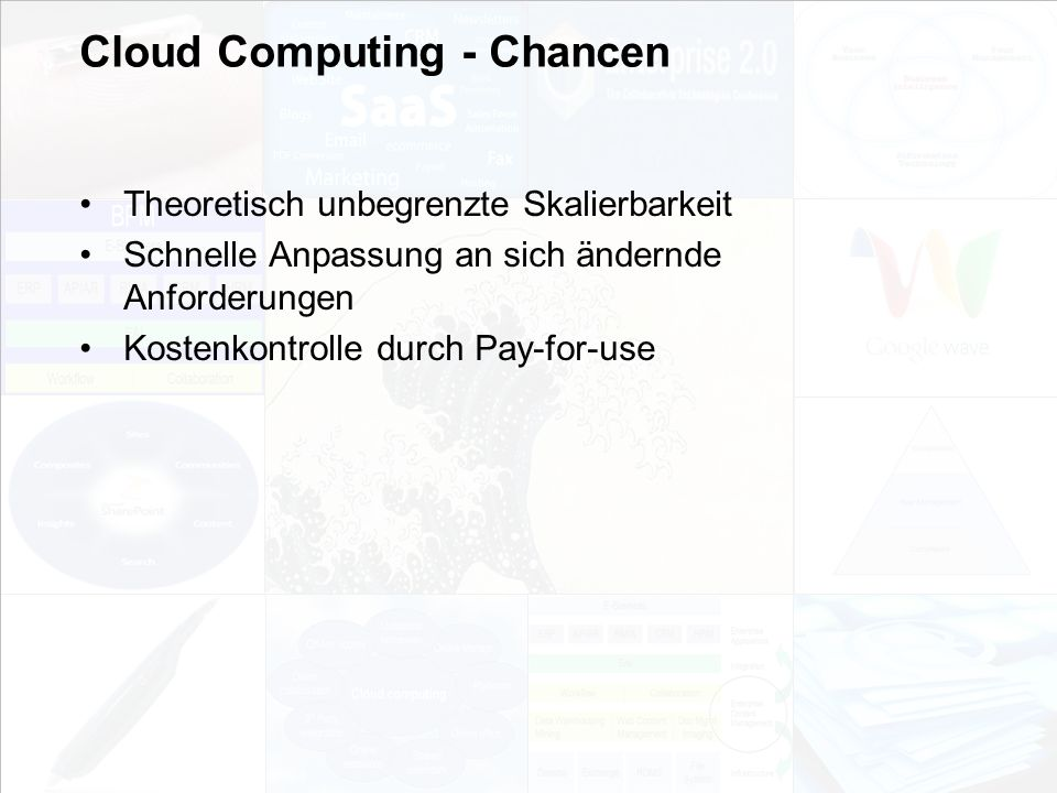 Cloud Computing - Chancen