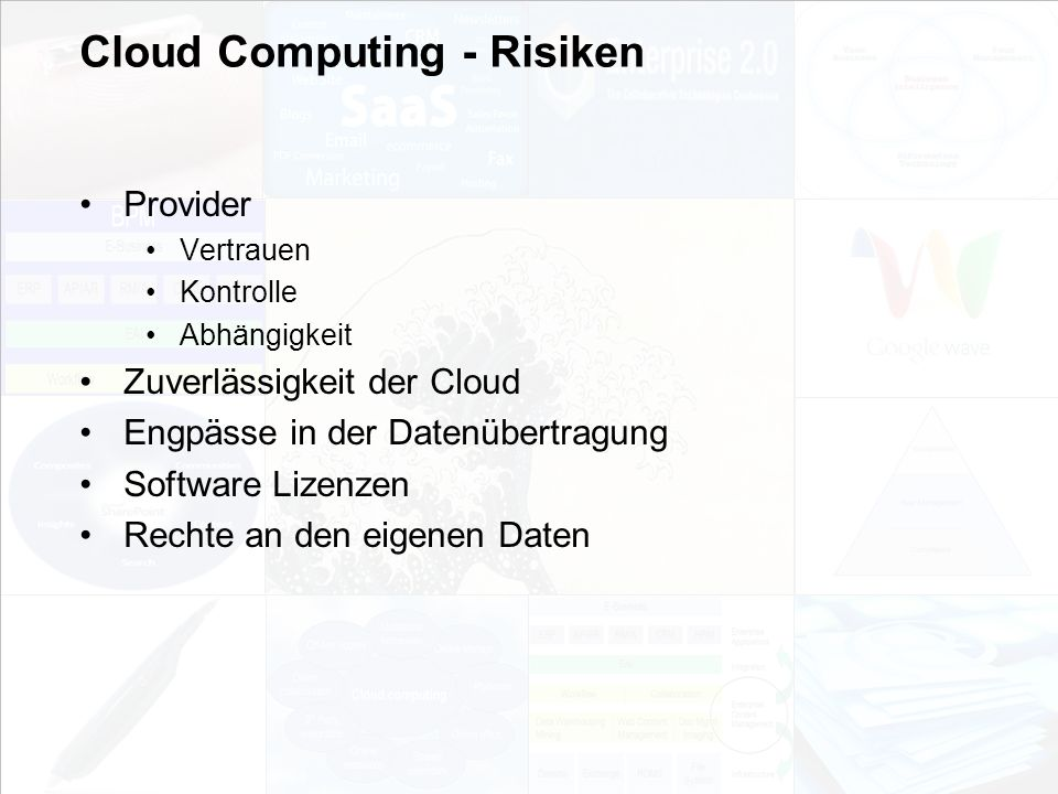 Cloud Computing - Risiken