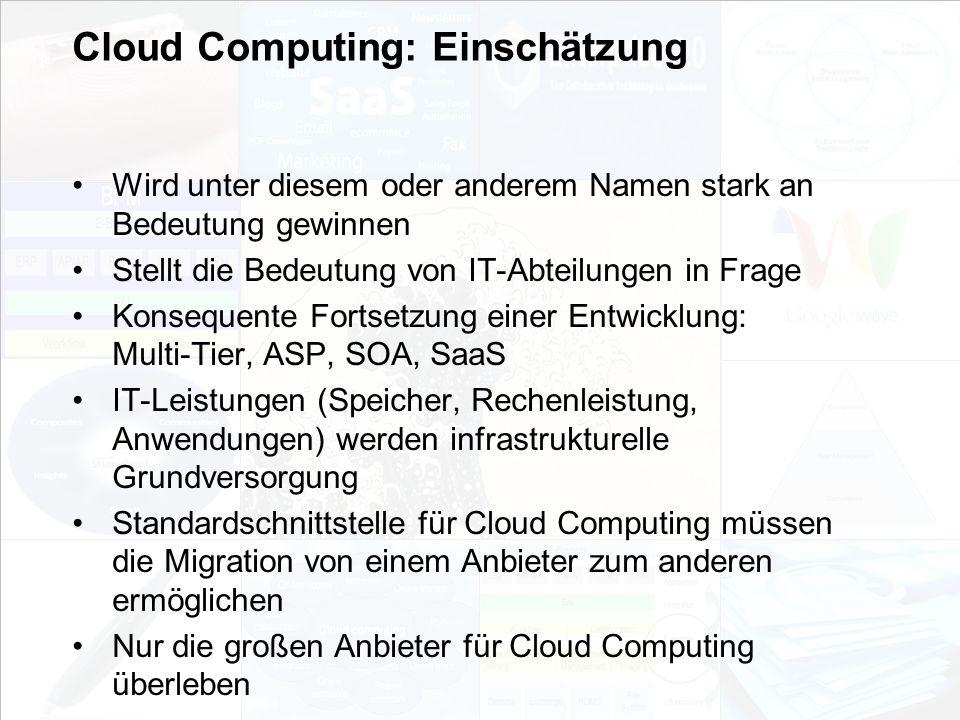 Cloud Computing: Einschätzung