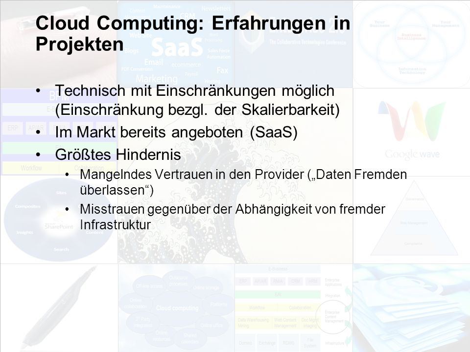 Cloud Computing: Erfahrungen in Projekten