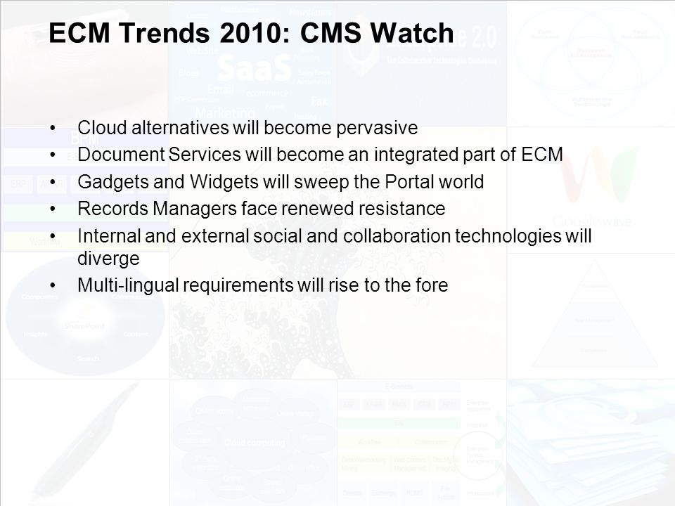 ECM Trends 2010: CMS Watch Cloud alternatives will become pervasive