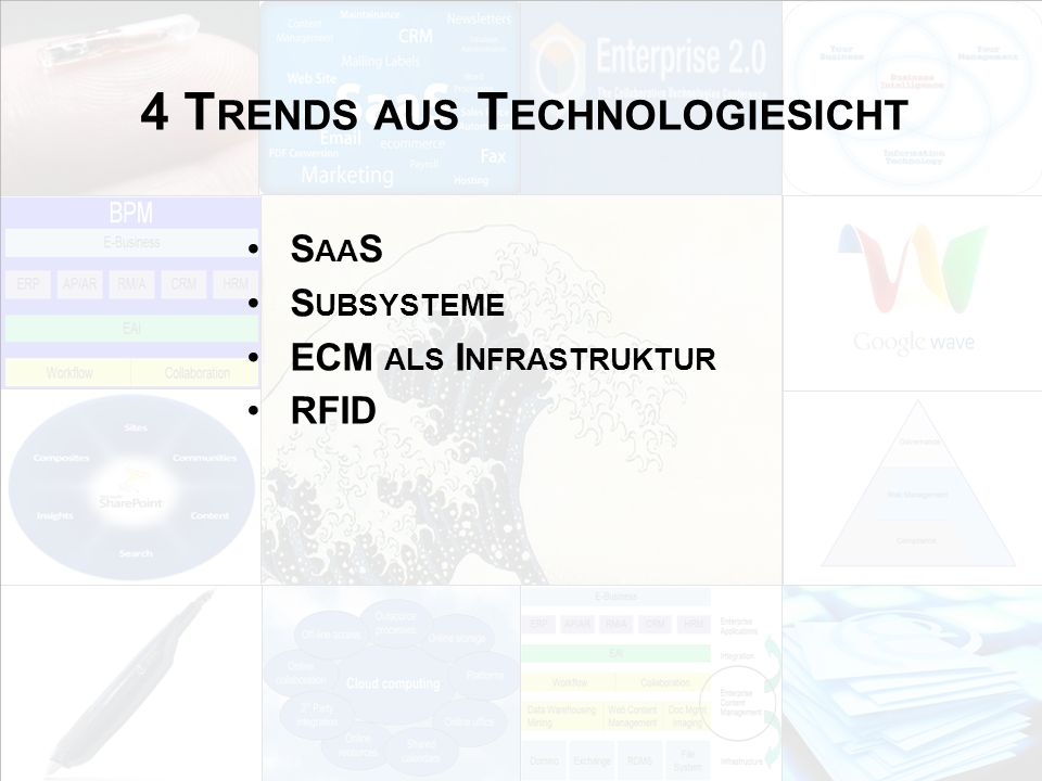 4 Trends aus Technologiesicht
