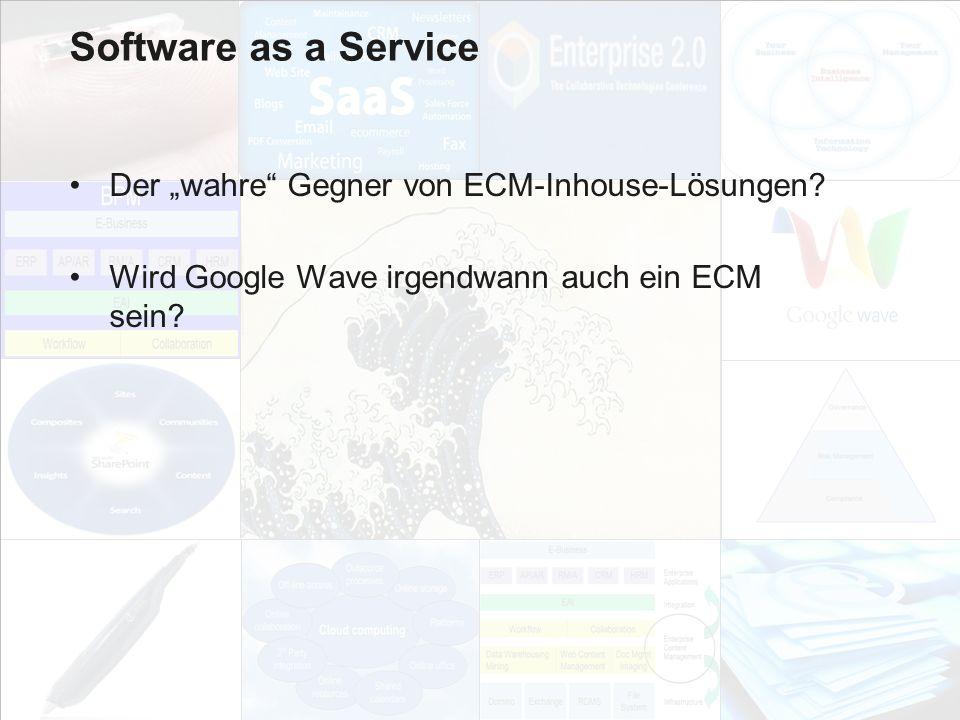"""Software as a Service Der """"wahre Gegner von ECM-Inhouse-Lösungen"""