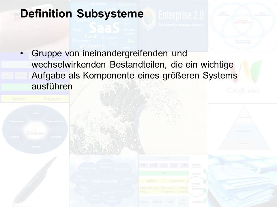 Definition Subsysteme