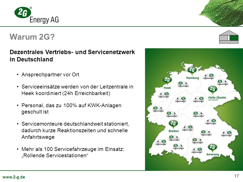 Warum 2G Dezentrales Vertriebs- und Servicenetzwerk in Deutschland