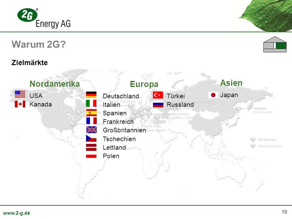 Warum 2G Nordamerika Asien Europa Zielmärkte USA Kanada