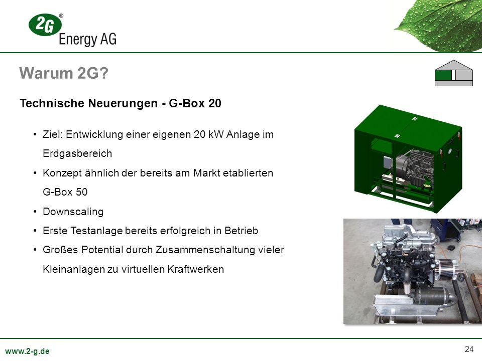 Warum 2G Technische Neuerungen - G-Box 20