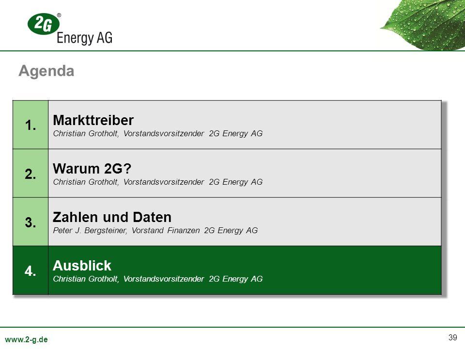 Agenda Markttreiber 1. Warum 2G 2. Zahlen und Daten 3. Ausblick 4.