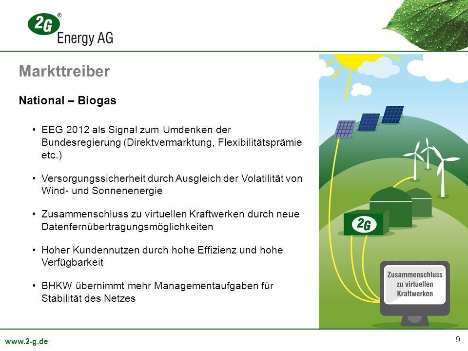 Markttreiber National – Biogas