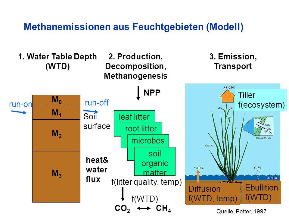 Methanemissionen aus Feuchtgebieten (Modell)