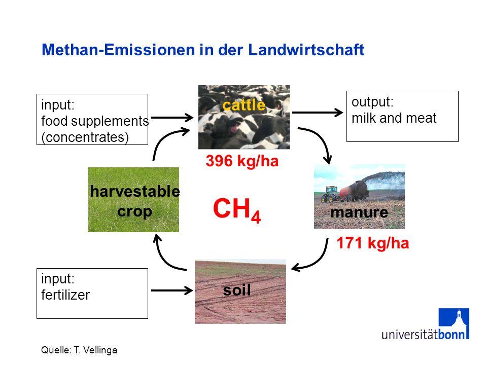 Methan-Emissionen in der Landwirtschaft