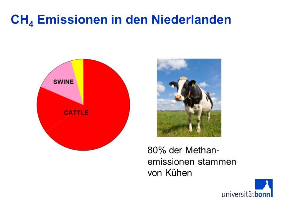 CH4 Emissionen in den Niederlanden