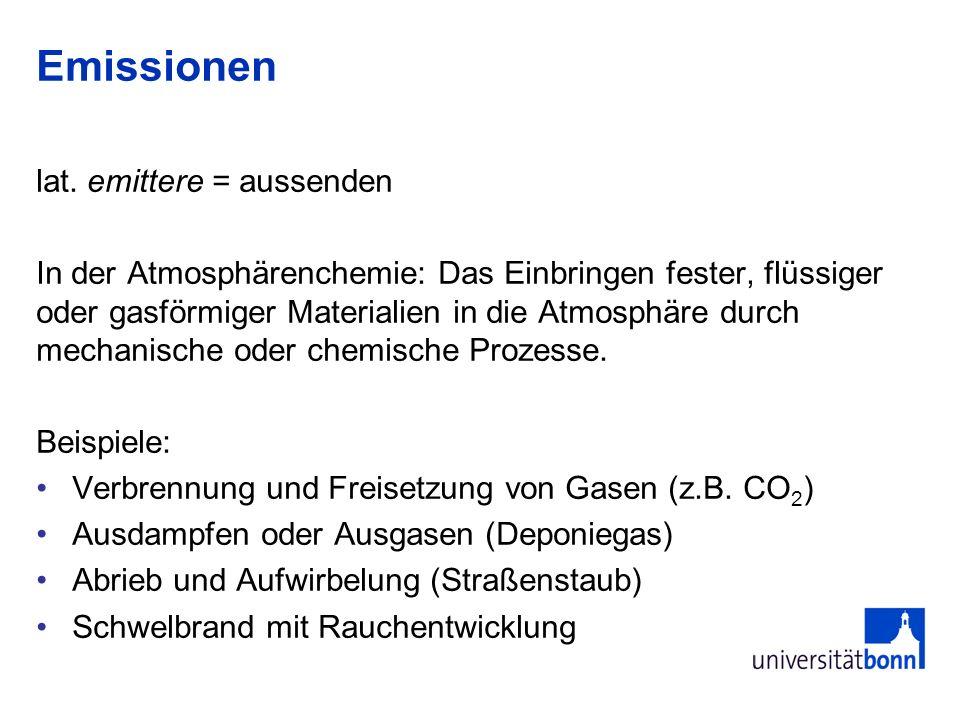 Emissionen lat. emittere = aussenden