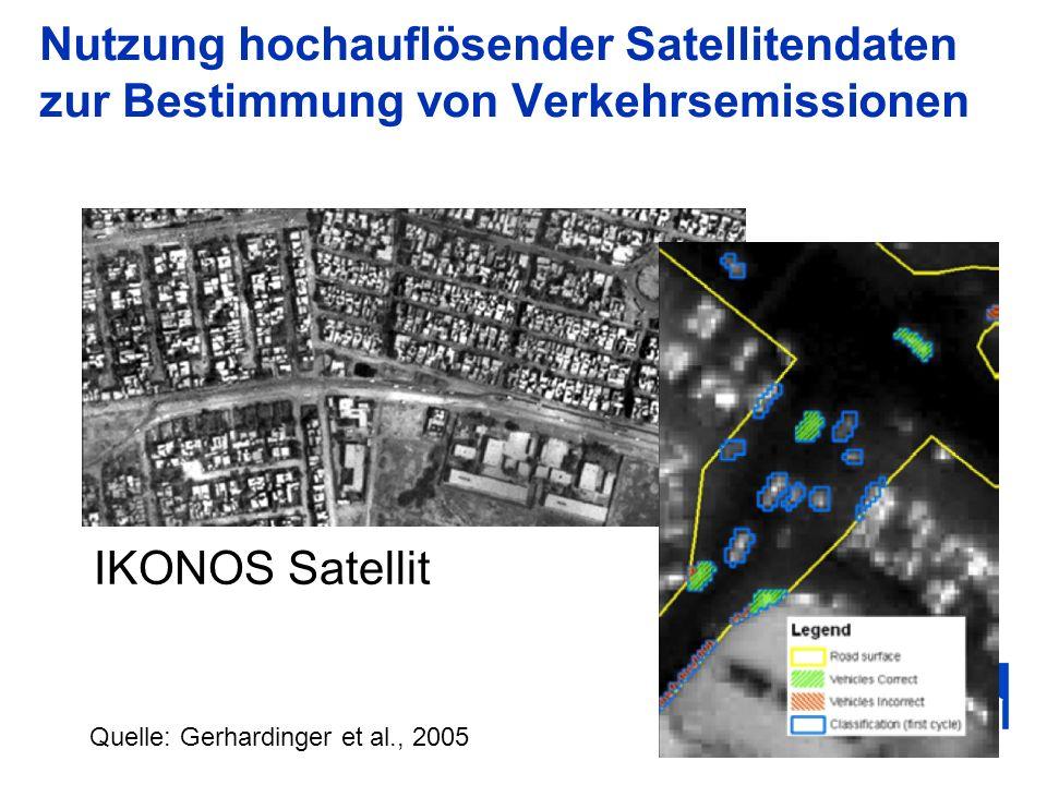 Nutzung hochauflösender Satellitendaten zur Bestimmung von Verkehrsemissionen