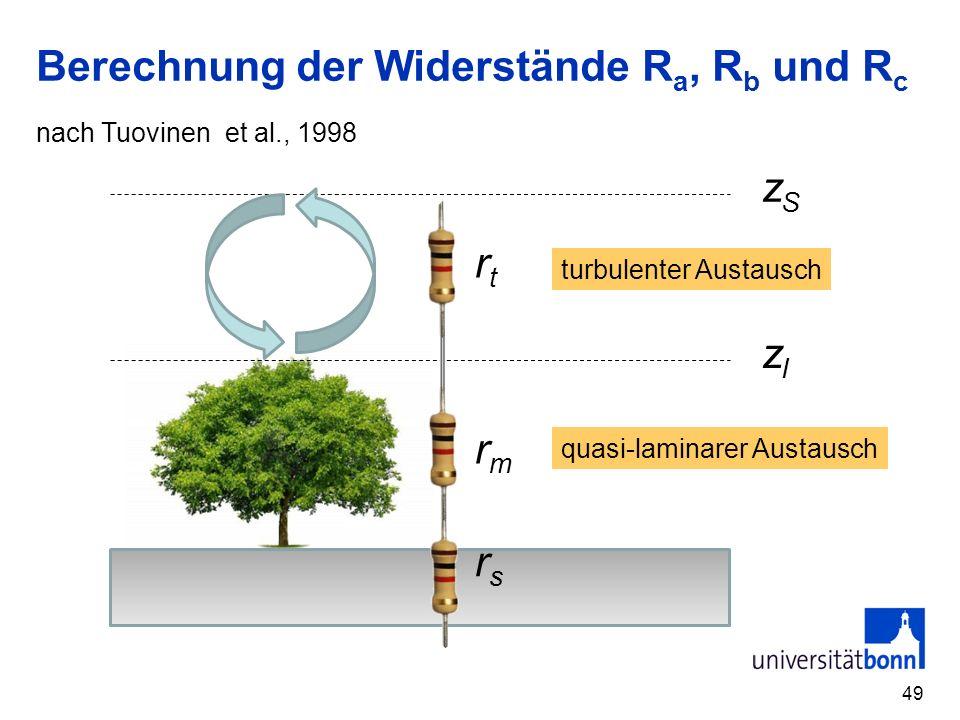 Berechnung der Widerstände Ra, Rb und Rc