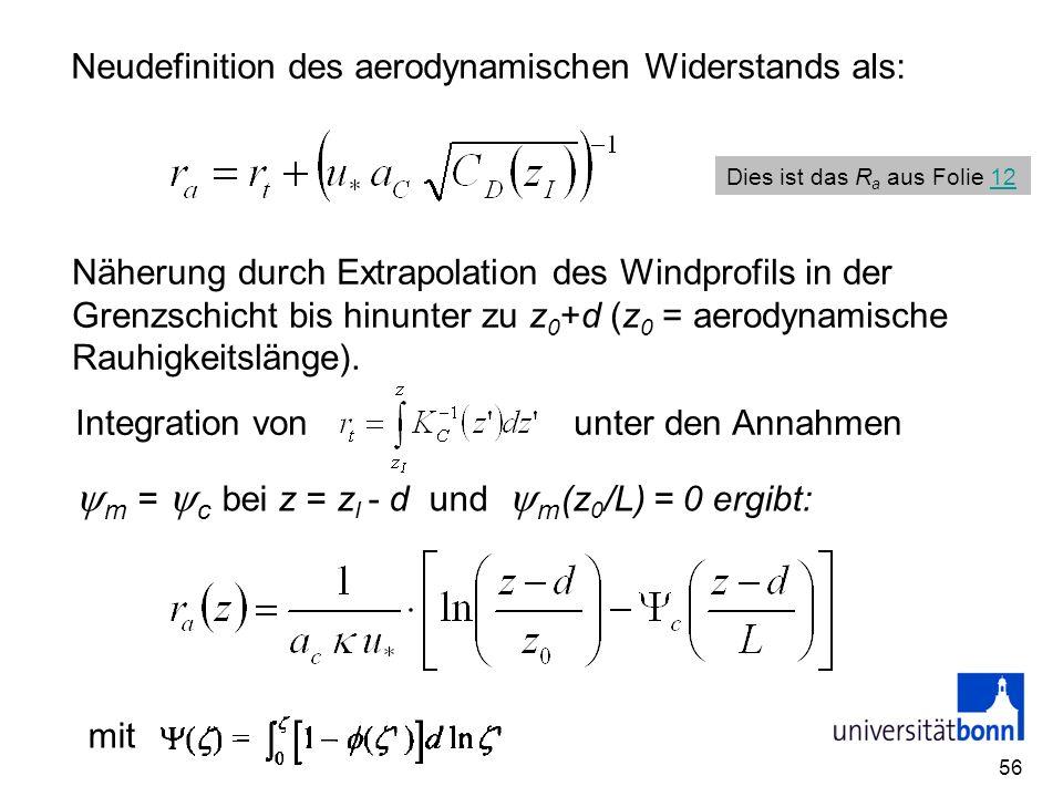 m = c bei z = zI - d und m(z0/L) = 0 ergibt: