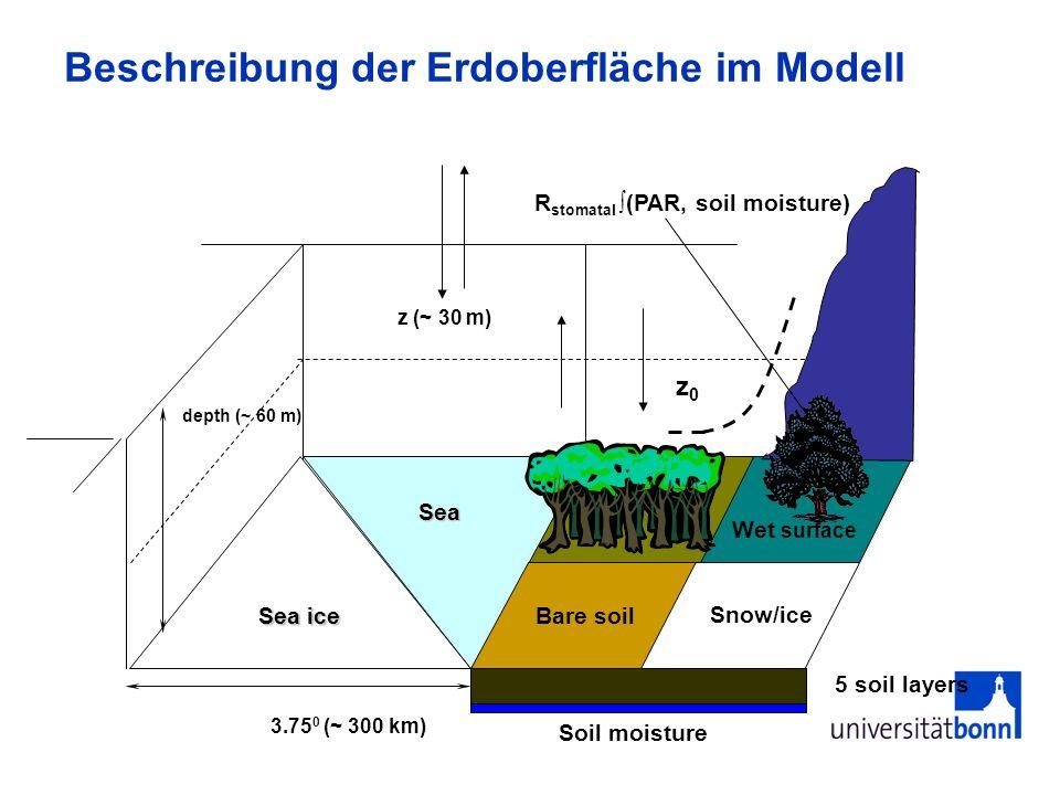 Beschreibung der Erdoberfläche im Modell