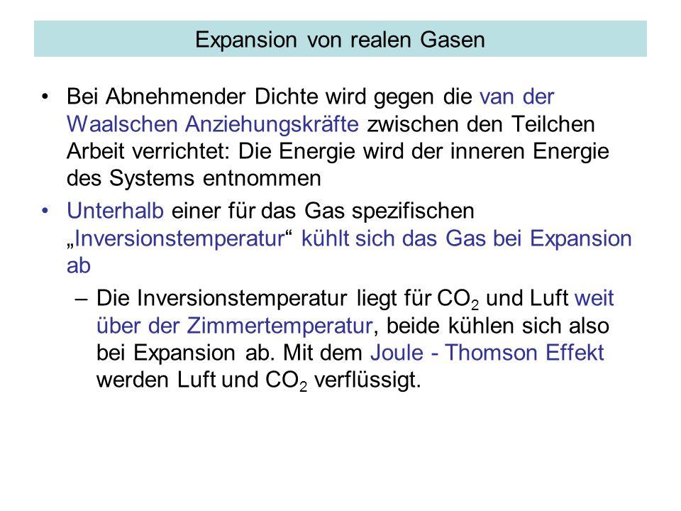 Expansion von realen Gasen