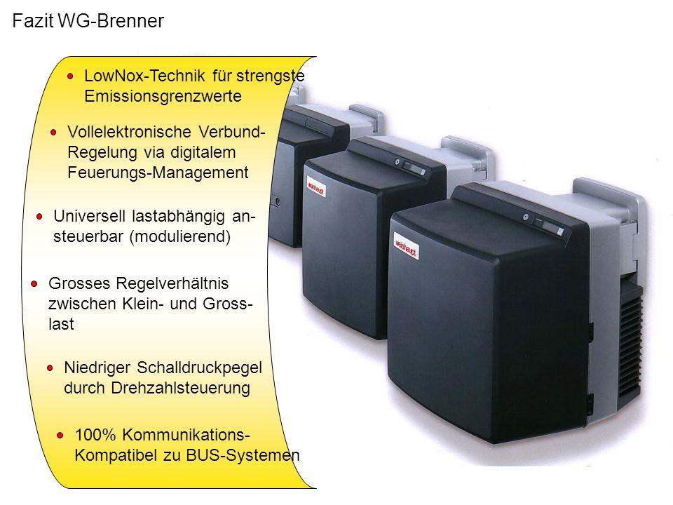Fazit WG-Brenner LowNox-Technik für strengste Emissionsgrenzwerte