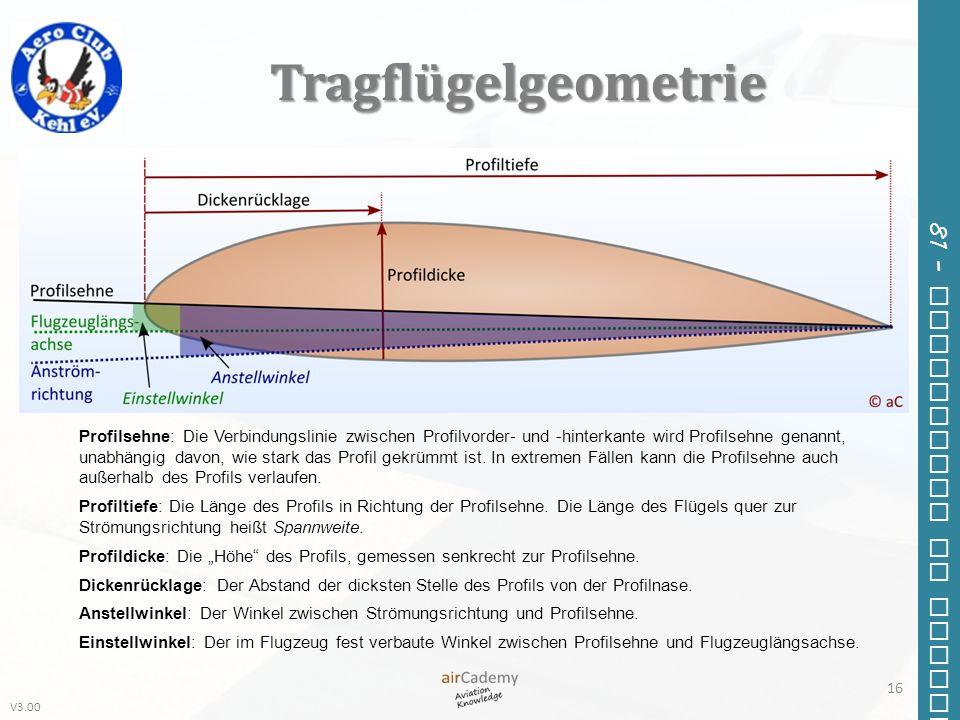 Tragflügelgeometrie