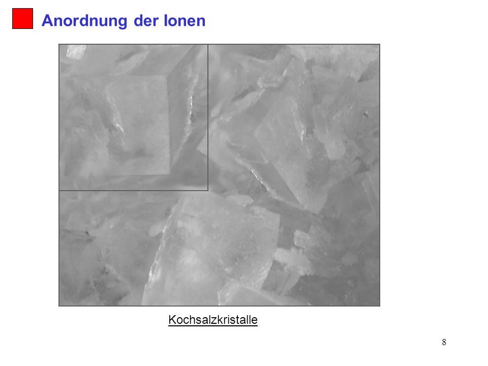 Anordnung der Ionen Kochsalzkristalle