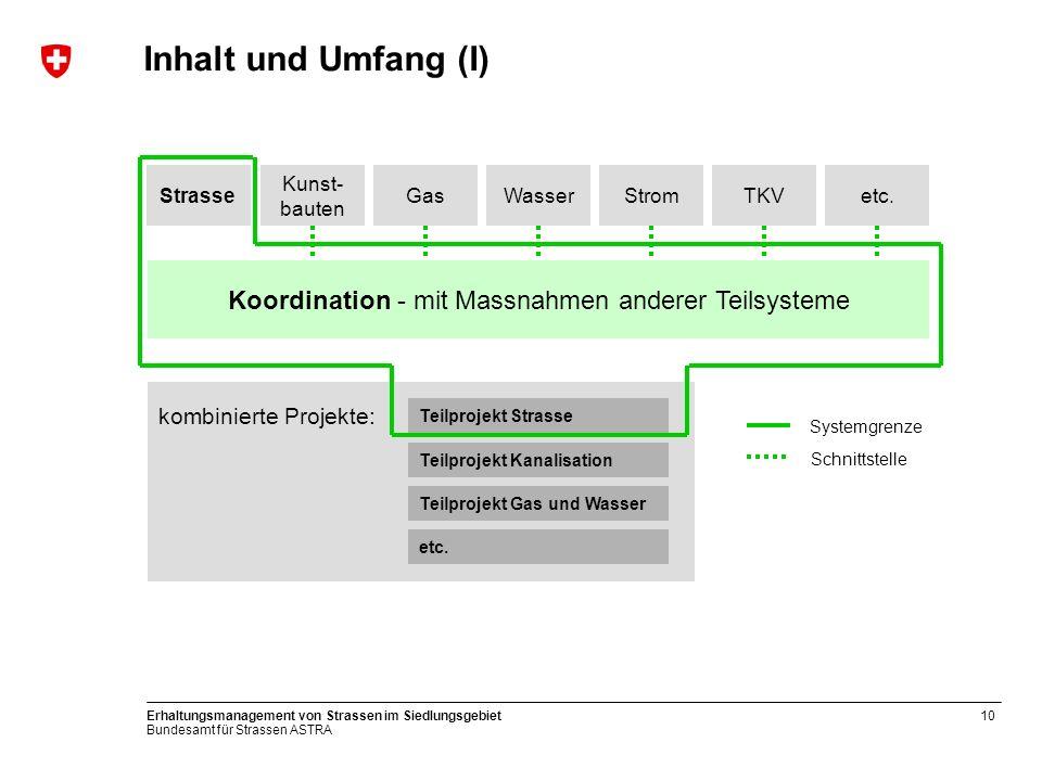 Koordination - mit Massnahmen anderer Teilsysteme