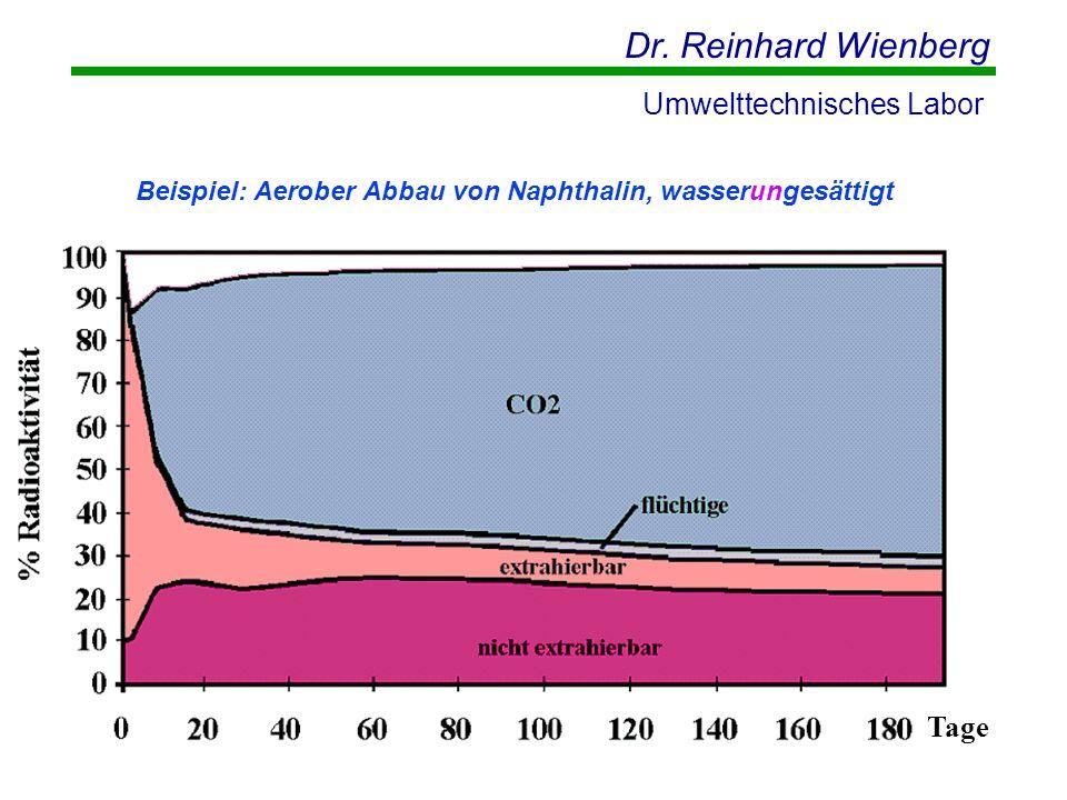 Beispiel: Aerober Abbau von Naphthalin, wasserungesättigt