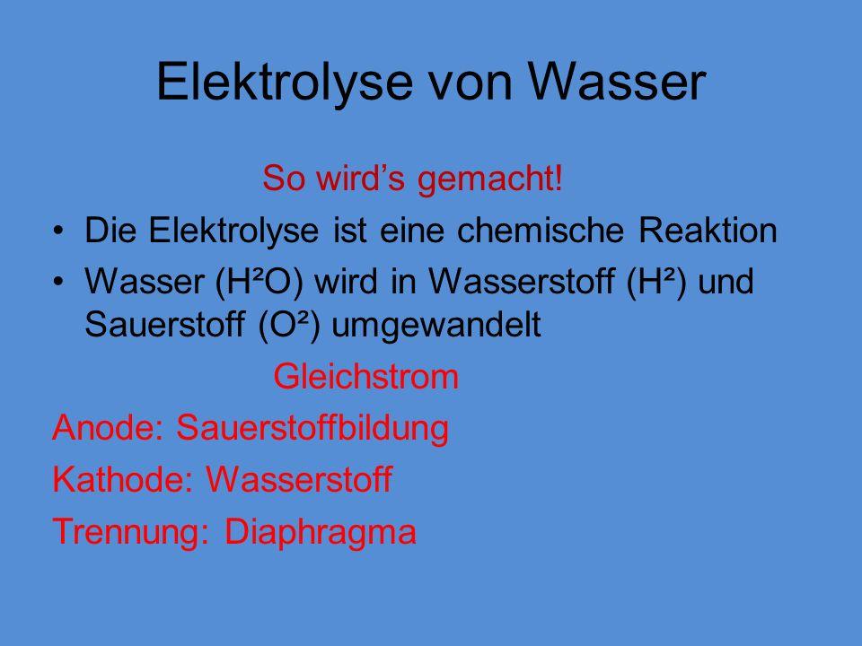 Elektrolyse von Wasser
