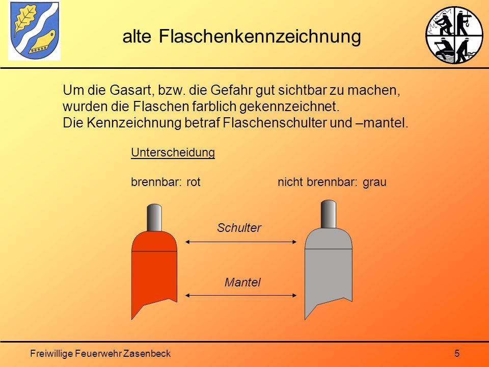 alte Flaschenkennzeichnung