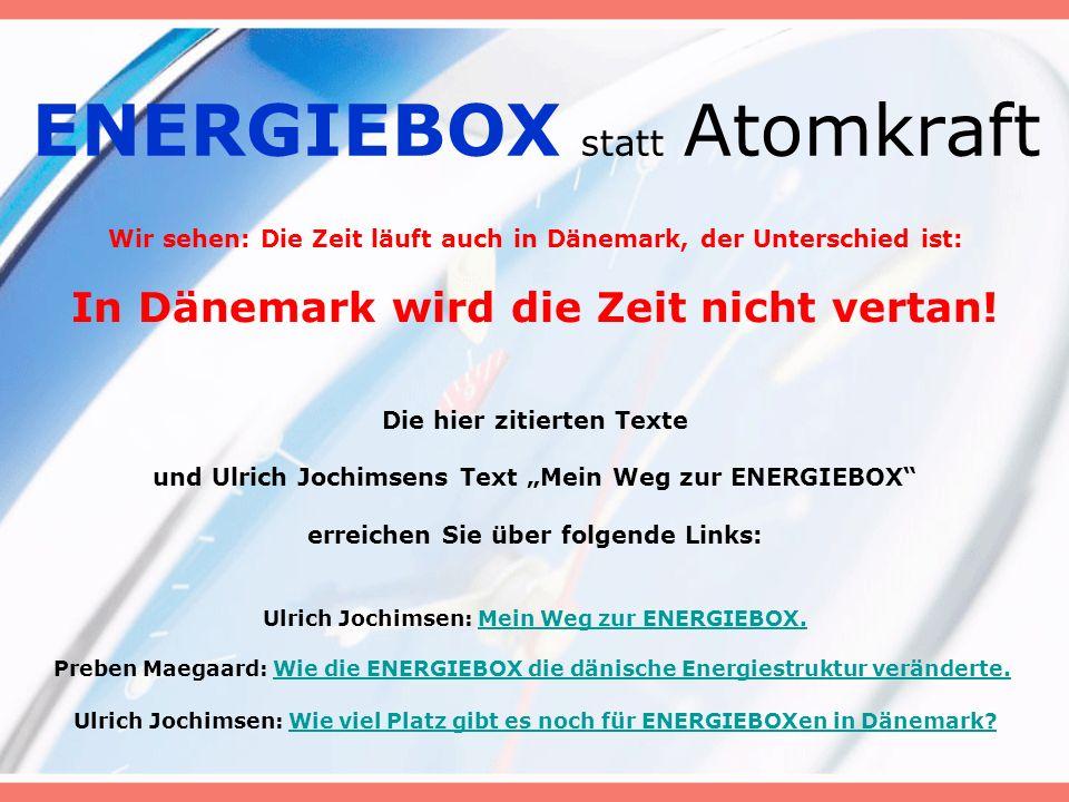 ENERGIEBOX statt Atomkraft