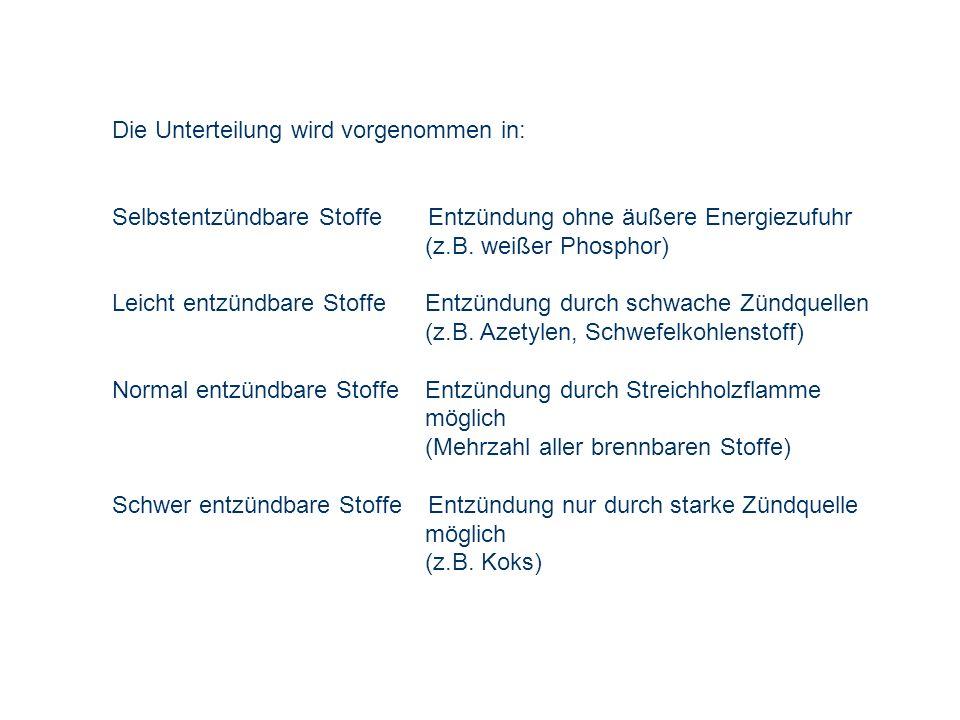 Die Unterteilung wird vorgenommen in: