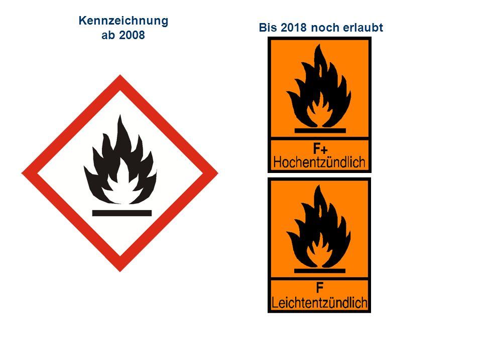 Kennzeichnung ab 2008 Bis 2018 noch erlaubt