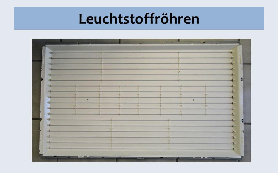 Leuchtstoffröhren Dicke! 35 mm (mindestdicke)