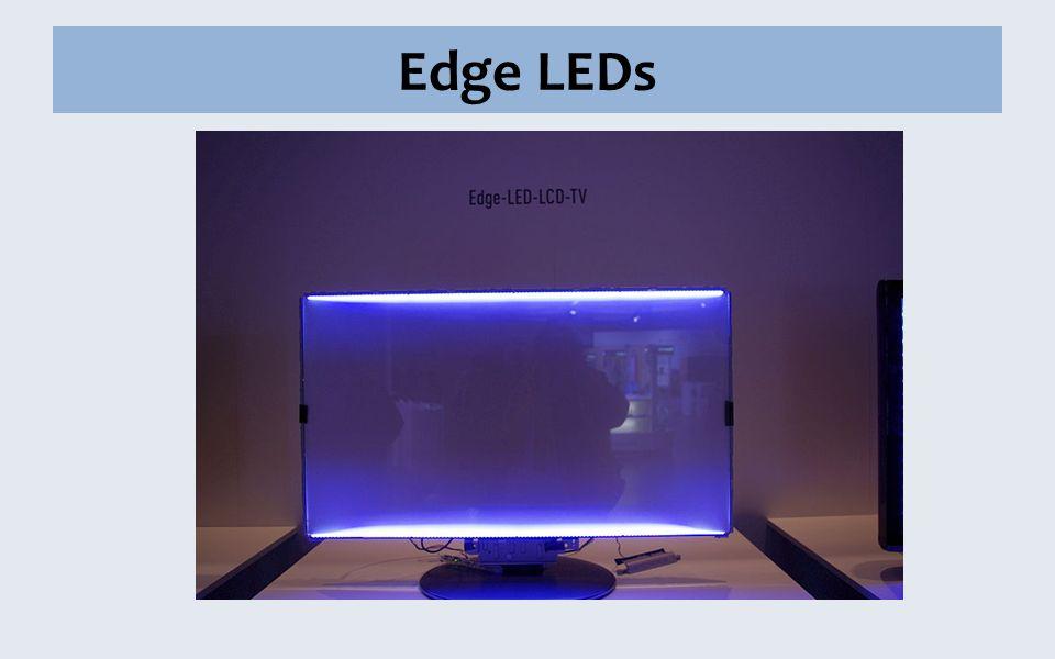 Edge LEDs LEDs nur am Rand (oben oder untern) sehr schmal