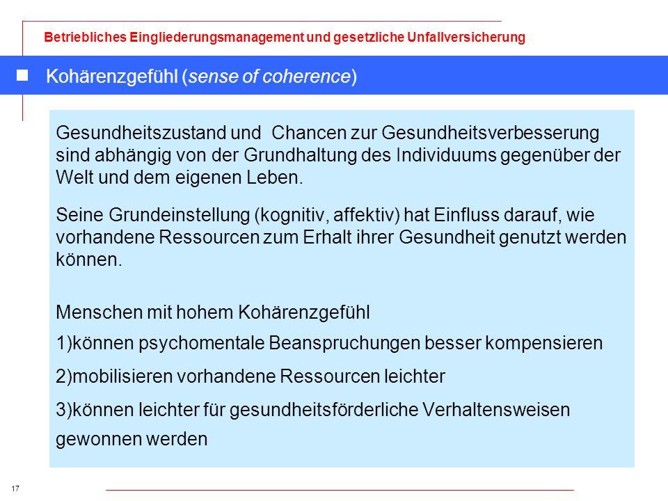 Kohärenzgefühl (sense of coherence)