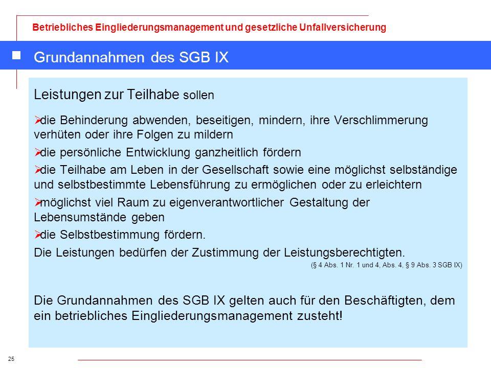 Grundannahmen des SGB IX