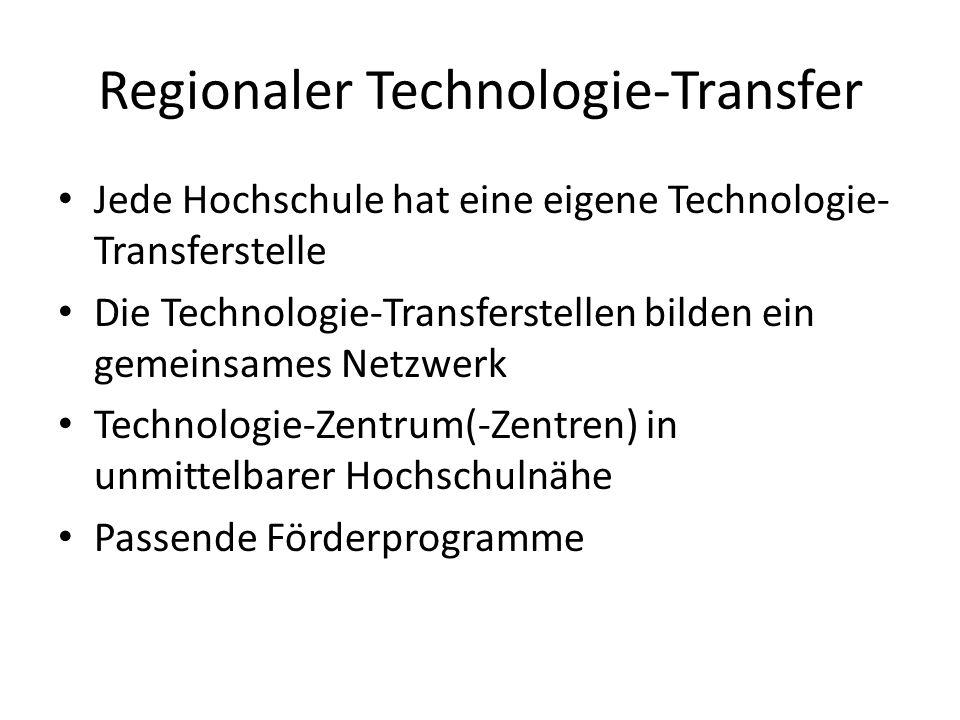 Regionaler Technologie-Transfer