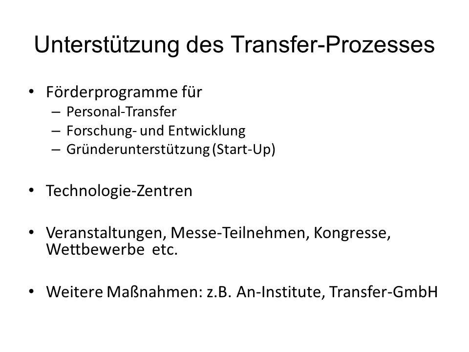 Unterstützung des Transfer-Prozesses