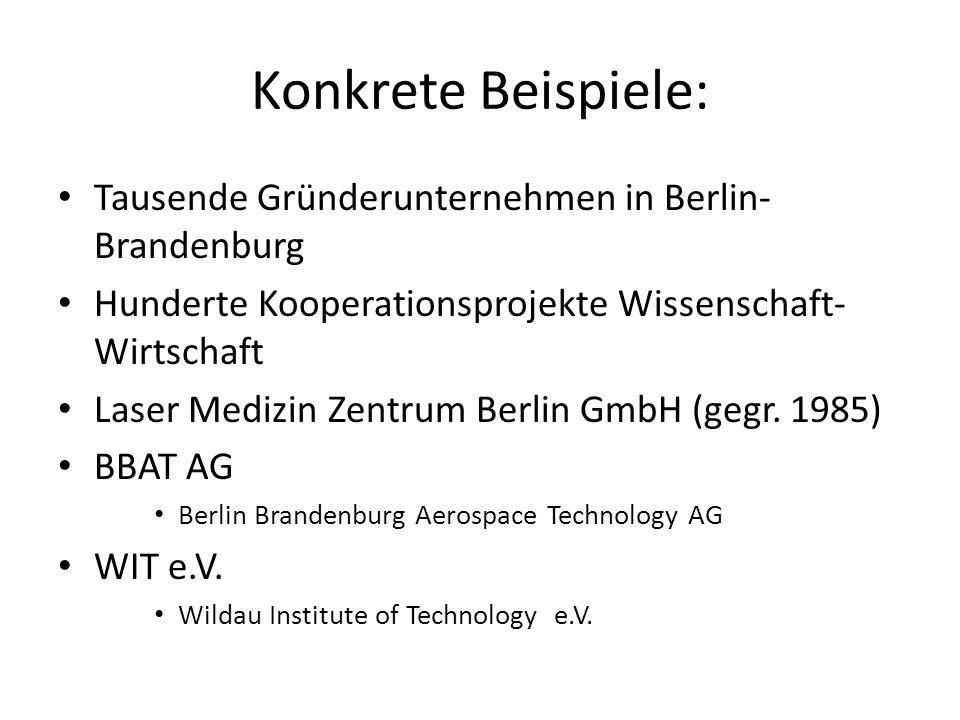 Konkrete Beispiele: Tausende Gründerunternehmen in Berlin-Brandenburg