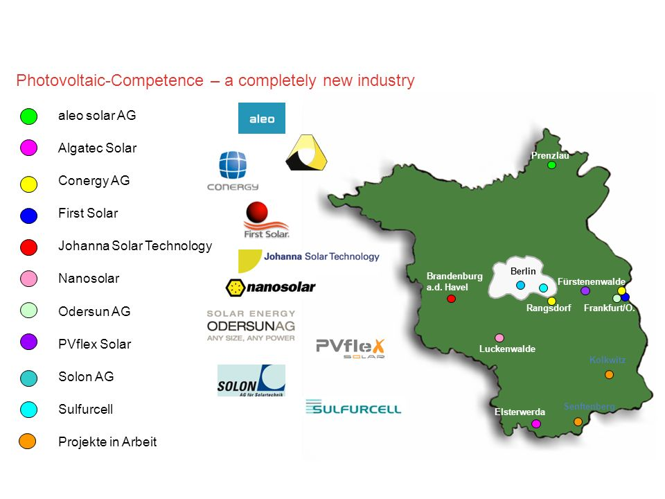 Photovoltaic-Competence – a completely new industry