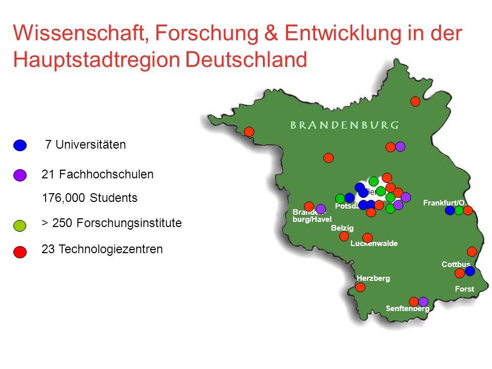 Wissenschaft, Forschung & Entwicklung in der Hauptstadtregion Deutschland