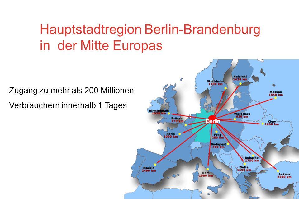 Hauptstadtregion Berlin-Brandenburg in der Mitte Europas