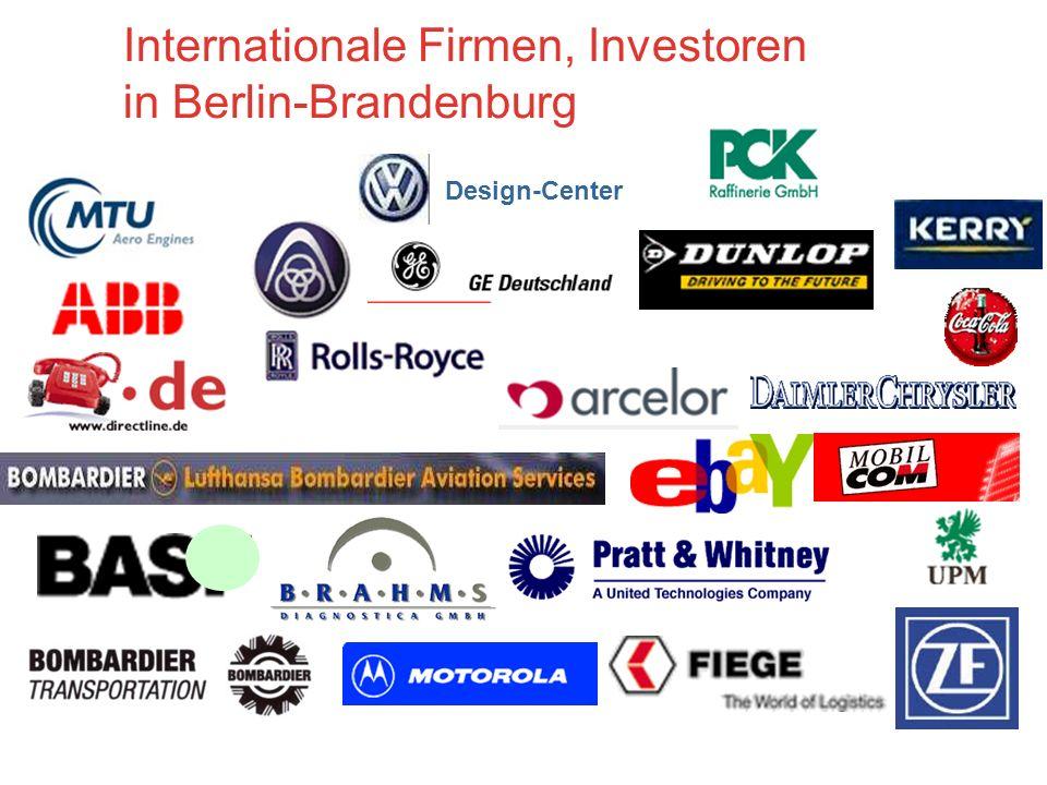 Internationale Firmen, Investoren in Berlin-Brandenburg