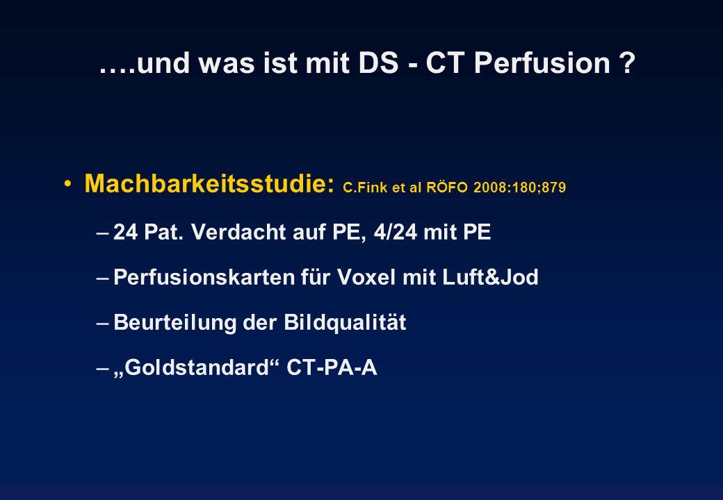 ….und was ist mit DS - CT Perfusion