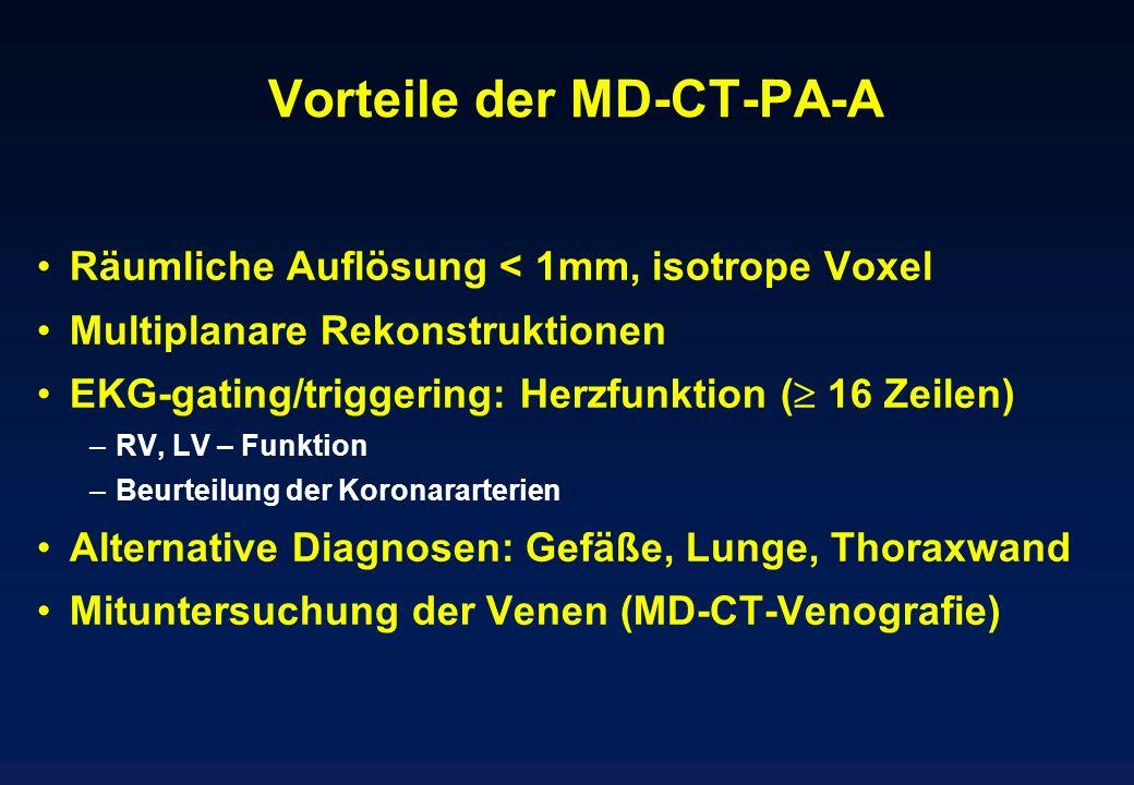 Vorteile der MD-CT-PA-A