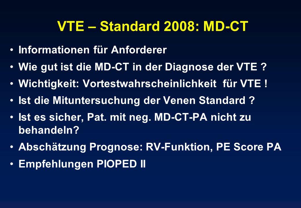 VTE – Standard 2008: MD-CT Informationen für Anforderer
