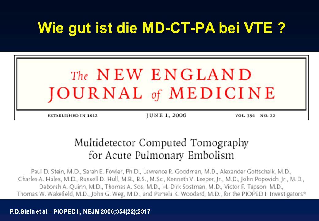Wie gut ist die MD-CT-PA bei VTE