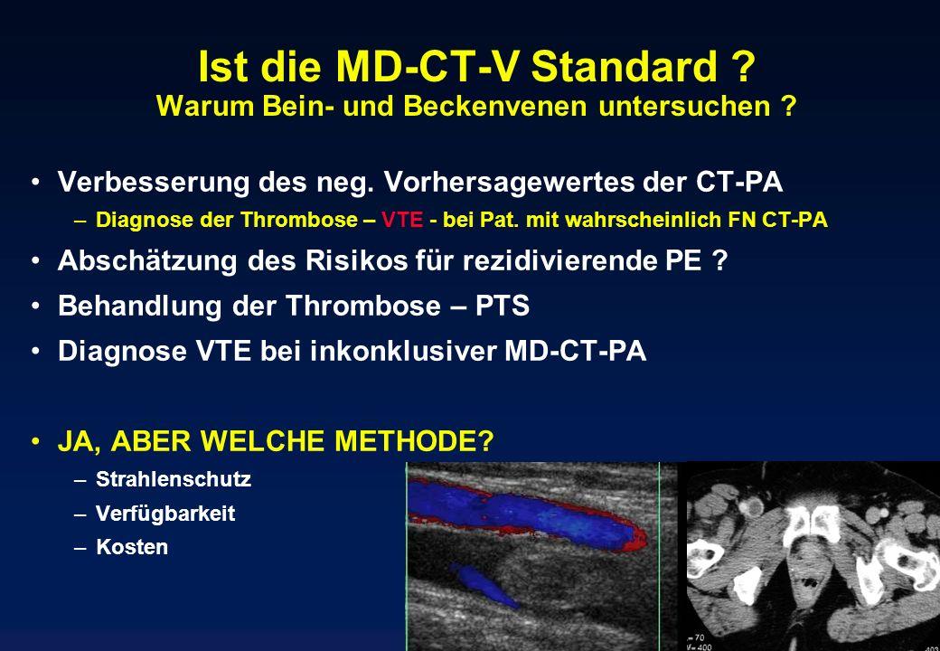 Ist die MD-CT-V Standard Warum Bein- und Beckenvenen untersuchen