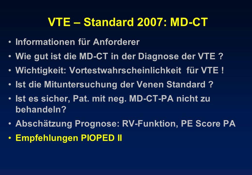 VTE – Standard 2007: MD-CT Informationen für Anforderer