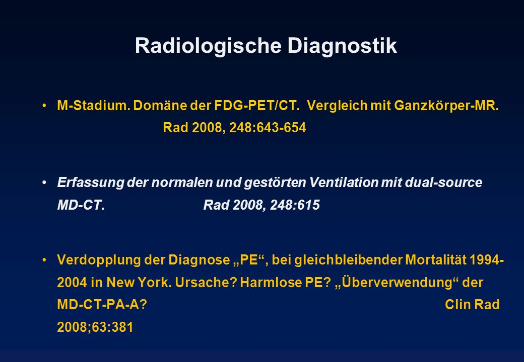 Radiologische Diagnostik